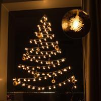 어반 LED 눈꽃전구 크리스마스 벽트리 장식 세트
