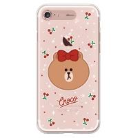 라인프렌즈 iPhone7 CHOCO Cherry LIGHT CASE