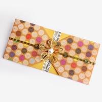 [인디고샵]  전통 구슬패턴 황색 돈 봉투 (2set)