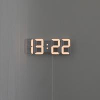 [무아스] 퓨어 화이트골드 미니 LED 시계