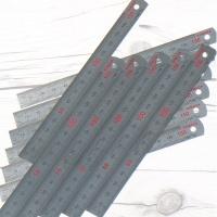 15cm 유광 스틸자..야마다 철직자/쇠자 1팩(12개입)