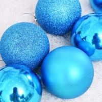 믹스볼장식세트 8입 (블루) - 8cm