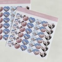밍키트 벚꽃 하트 스티커
