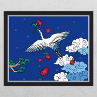 ia439-풍수소나무와하늘을나는학_창문그림액자