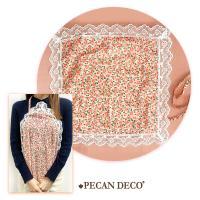피칸데코 에티켓 손수건 핑크플라워 앞치마 무릎덮개