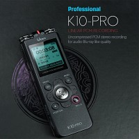 보이스레코더,녹음기 K10PRO(16G)연속35시간녹음,PCM3D입체녹음기,학습/회의,강의용