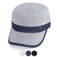 [디꾸보]코튼 줄무늬 배색 패치 군모 DCH-HN376