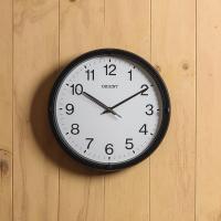 오리엔트 무소음 OT822 베이직블랙 인테리어벽시계