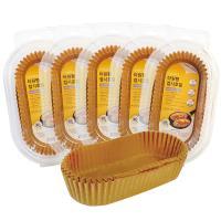 자연에서 온 타원형 접시 종이호일 (50매), 5개세트