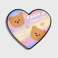 Gradation dot bear-yellow/purple(hearttoktok)