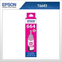 엡손(EPSON) 정품 잉크 T664300 Magenta T6643 L100 / L110 / L200 / L210 / L300 / L350 / L355 / L550 / L555 적색잉크