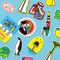 [루카랩 x 캠퍼] Lazy Lounge Sticker 스티커세트