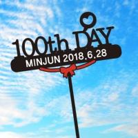 100TH DAY T014 케이크토퍼 여행토퍼 자유문구변경