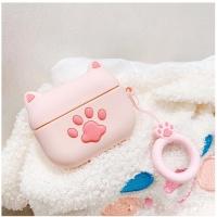 에어팟프로/3세대 고양이발바닥 키링세트 402 핑크
