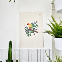 앵무새 일러스트 패브릭 포스터 / 가리개 커튼