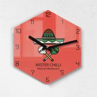 리플렉스 모던6각 멕시코 레드 무소음벽시계 MAX255RD