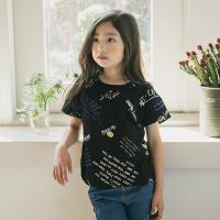 [보니스텔라] 17SS379 영문 스마일 티셔츠