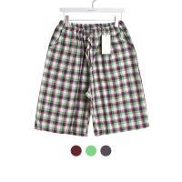[쿠비카]사각 체크 선염면 파자마 팬츠 잠옷 W330