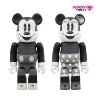 100%BEARBRICK MICKEY MOUSE B&W 2PCS SET (1812008)
