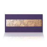 가하 자음모음C 금펄 청보라 가로형 우편봉투