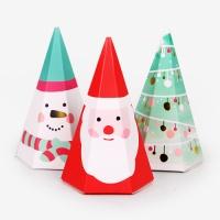 [인디고샵] 크리스마스 뾰족한 산타와 친구들 상자 3set