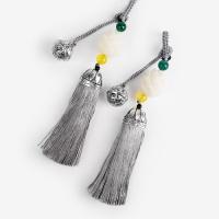 [인디고샵] 방울 장식 은회색 전통 매듭 노리개