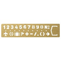 [BRASS PRODUCTS] TEMPLET BOOKMARK - number