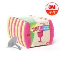 [3M]스크래치 방지 스펀지 수세미 6입 (걸이포함)