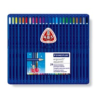 스테들러 에고소프트 수채용 색연필 24색[00032128]