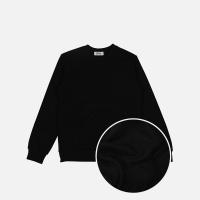 베이직 기모 맨투맨-블랙