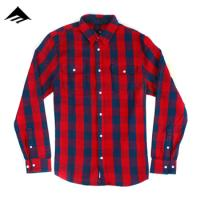 [EMERICA] REUP FLANNEL WOVEN L/S (Red)