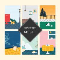 플레잉 데이즈 포스트카드 엽서세트 6p