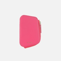 Reims Pebble Card Wallet Strawberry Pink
