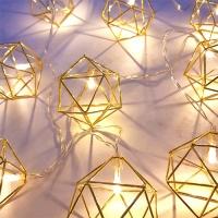 [인디고샵] 우아하게 빛나는 골드 LED 조명 가랜드
