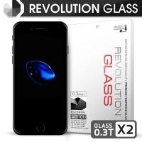 [프로텍트엠] 레볼루션글라스 0.3T 강화유리 방탄액정보호필름 2장 아이폰7플러스/iPhone7 Plus
