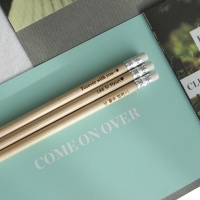 [무료 메시지 각인] 지우개 원목연필 5본입 [Eraser]