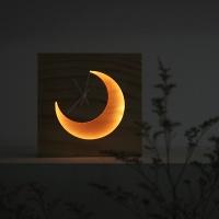 초승달 조명시계