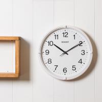 오리엔트 무소음 OT822 베이직화이트 인테리어벽시계
