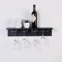 우드 기억자 와인잔걸이 벽선반600-3색상