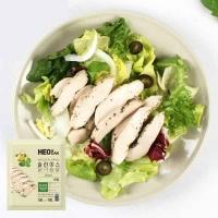 [허닭] 샐러드 슬라이스 닭가슴살 바질 100g