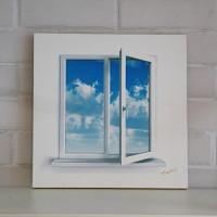 art canvas #T013 - the window