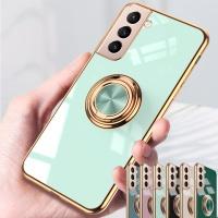 갤럭시s21 + ultra 핑거링 골드핏 컬러 실리콘 케이스