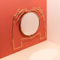 [도이] 엑세리아 벽걸이 거울 골드 라지
