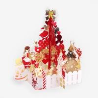 [인디고샵] 로맨틱 레드 크리스마스 팝업 입체카드