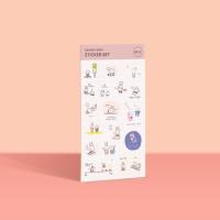[공부일기] 꾱쀼 스티커 - No.5 모트모트