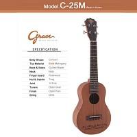 그레이스 우쿠렐레 C-25M (Grace Ukulele) 콘서트 바디 우쿨렐레 (Concert Body)