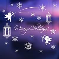 제제데코 크리스마스 눈꽃 스티커 장식 CMS4J233