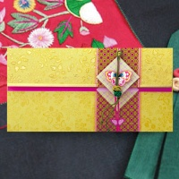 황금나비 꽁알매듭 용돈봉투 FB217-4
