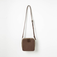 Square Cross Bag (Dark Brown) - P003C_DB