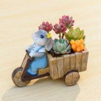 ROOGO 루고화분 토끼의 추수일기 토끼와 자전거